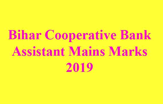 Bihar Cooperative Bank Assistant Mains Marks