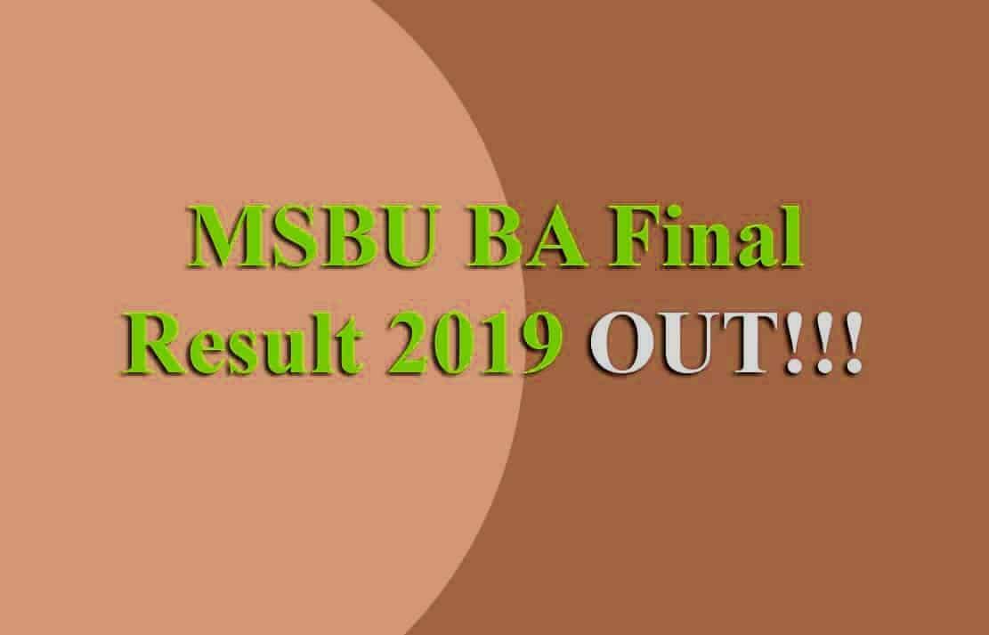 Brij University BA 3rd Year Result