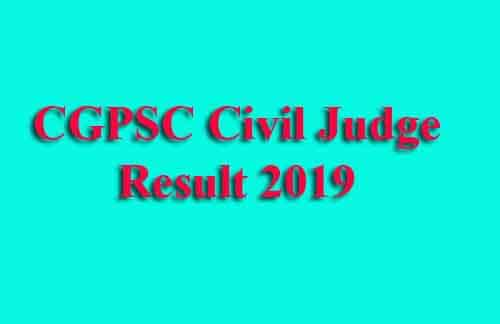 CGPSC CJ Prelims Result