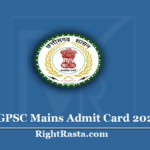 CGPSC Mains Admit Card 2020 (Out) Download State Service Exam Hall Ticket