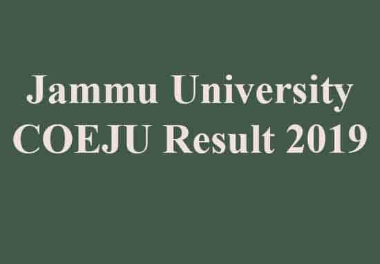 COEJU Result 2019