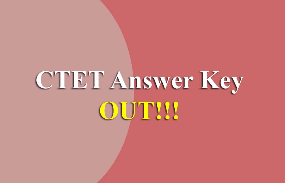 CTET July Answer Key