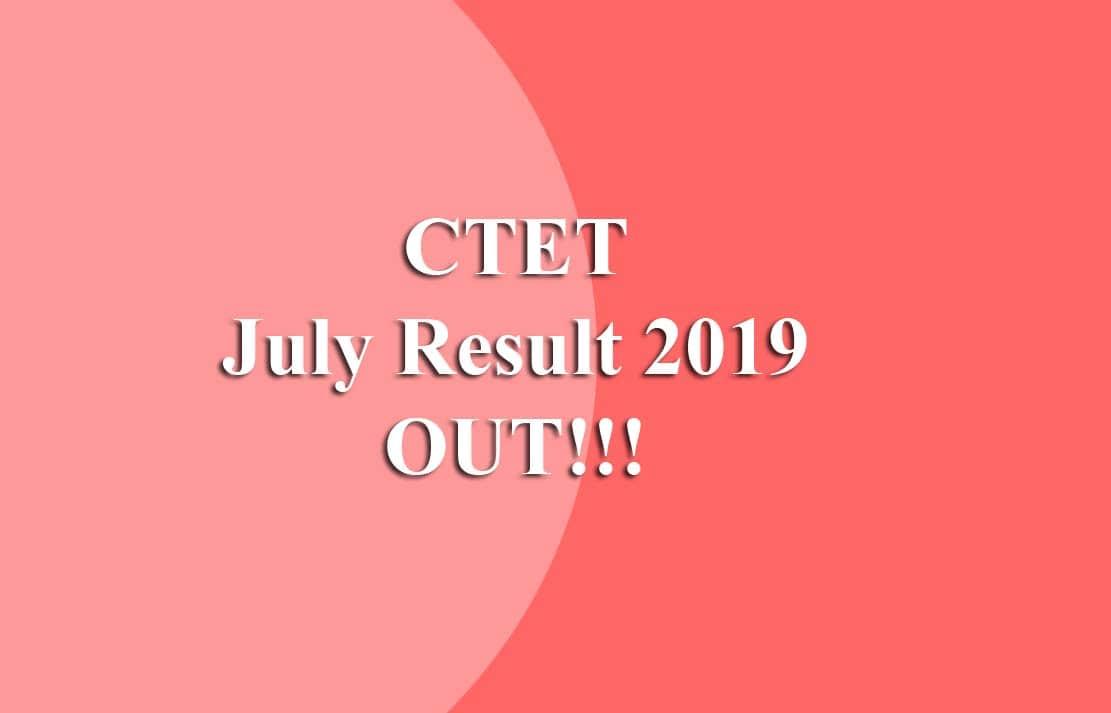 CTET Result 2019
