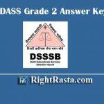 DSSSB DASS Grade 2 Answer Key 2019