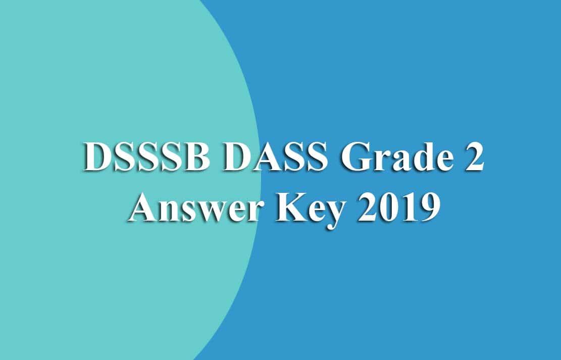 DSSSB DASS Grade 2 Answer Key