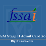 FSSAI Stage II Admit Card 2020 (Out) - Download Phase 2 Exam Hall Ticket