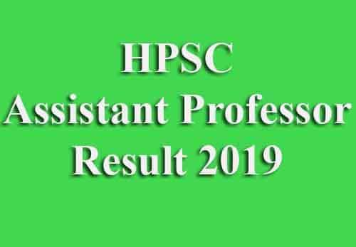 HPSC AP Result 2019