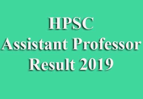 HPSC Assistant Professor Result
