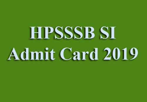How to Download HPSSC SI Admit Card