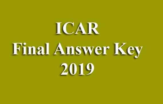ICAR Final Answer Key