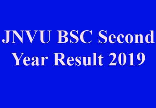 JNVU BSC Second Result 2019