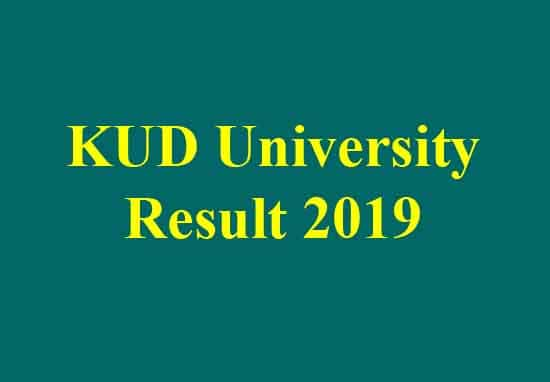 KUD University Result 2019 | Karnataka University Results 2019