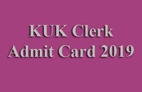 KUK University Clerk Admit Card