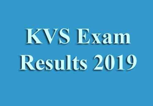 KVS Exam Results 2019