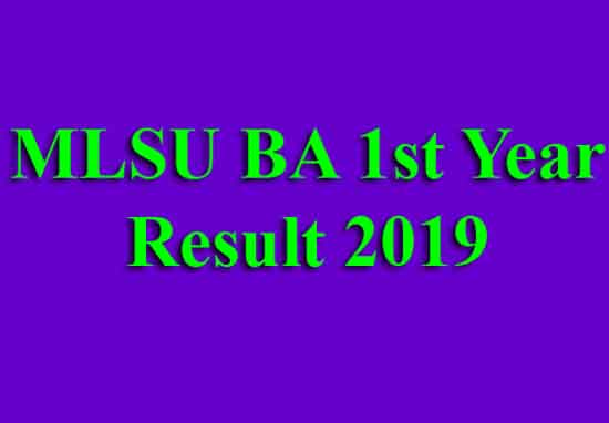 MLSU BA 1st Year Result 2019