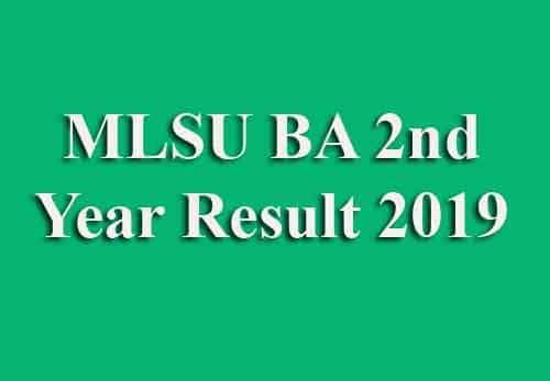 MLSU BA 2nd Year Result