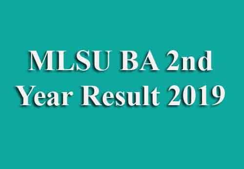 MLSU BA Second Year Result