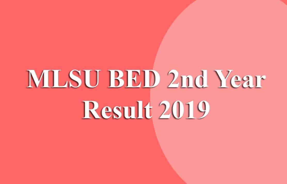 MLSU BED 2nd Year Result