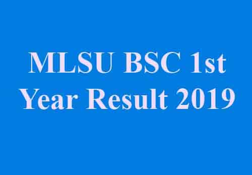 MLSU BSC 1st Year Result 2019