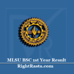 MLSU BSC 1st Year Result 2020 (Out) | Download B.Sc First Year Results