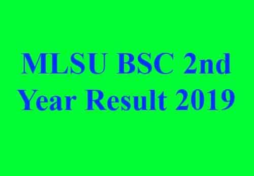 MLSU BSC 2nd Year Result
