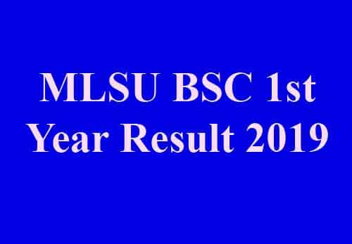 MLSU BSC First Year Result 2019