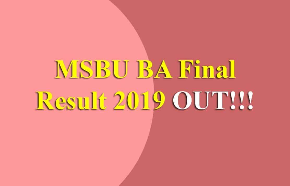 MSBU BA Final Result