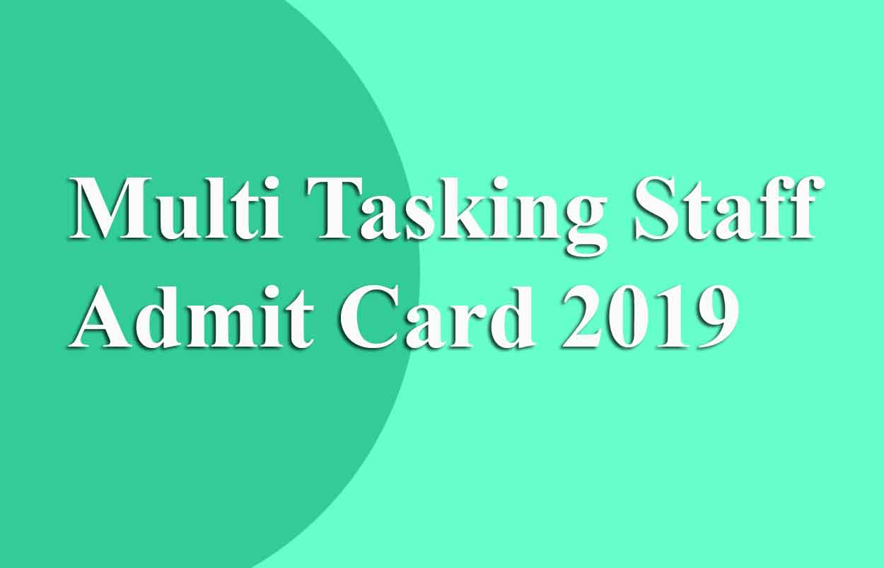 Multi Tasking Staff Admit Card