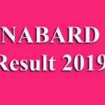 NABARD Result 2019 [Group A & B]
