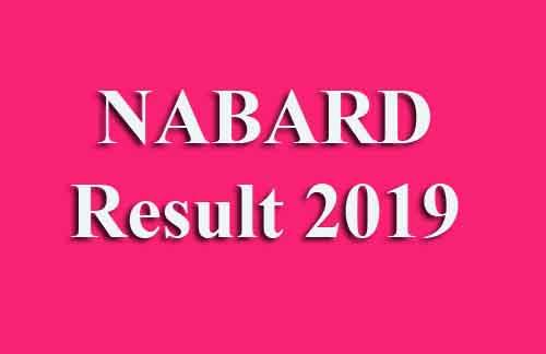 NABARD Result 2019
