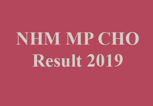 NHM MP CHO Result