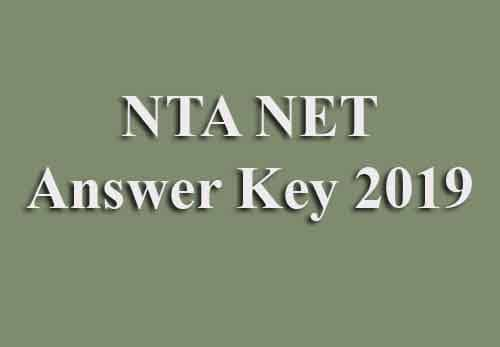 NTA NET Answer Key 2019