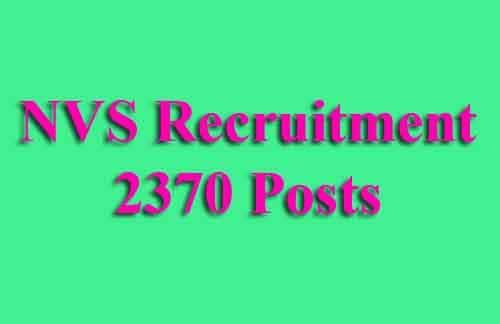 NVS TGT PGT Recruitment 2019