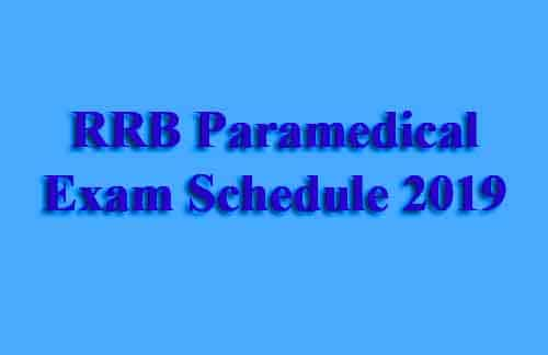 RRB Staff Nurse Exam Date