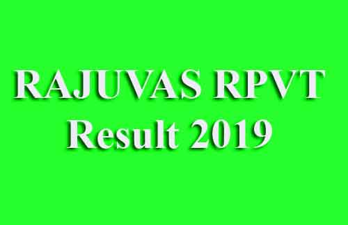 Rajasthan Pre Veterinary Test Result