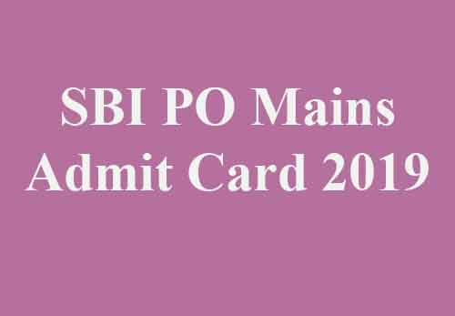 SBI PO Mains Call Letter 2019