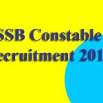 SSB Constable Recruitment 2019 [Under Sports Quota]
