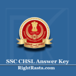 SSC CHSL Answer Key 2020 (Out) | Download Tier I Exam Key PDF