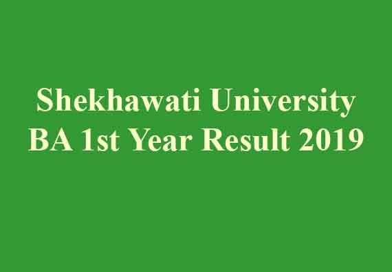 Shekhawati University BA 1st Year Result