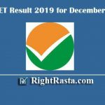 UGC NET Result 2019 | Download December Exam Results