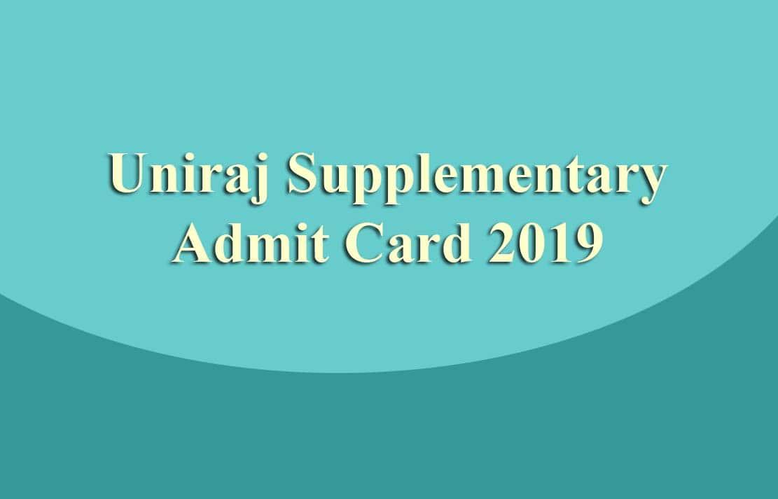 Uniraj Supplementary Admit Card