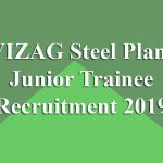 VIZAG Steel Junior Trainee Recruitment 2019