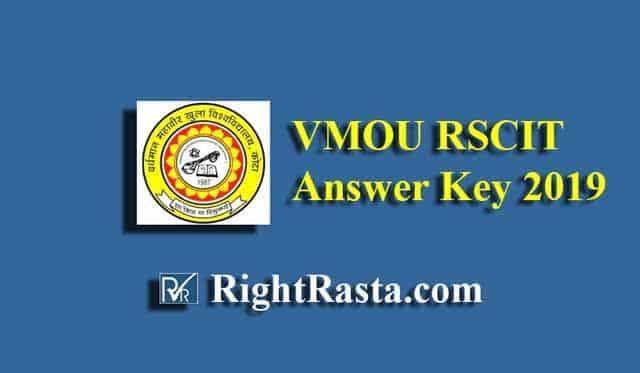 VMOU RSCIT Answer Key 2019