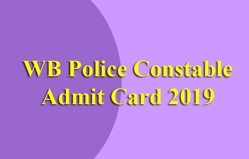 WB Police Constable Admit Card