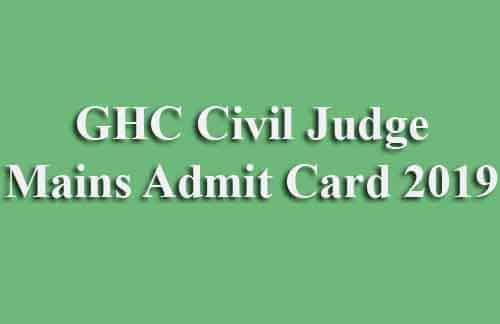 gujarat high court civil judge mains admit card