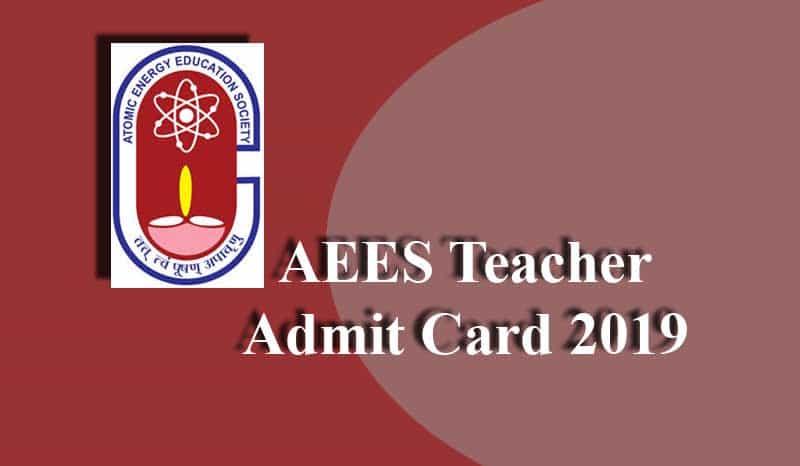 AEES Teacher Admit Card