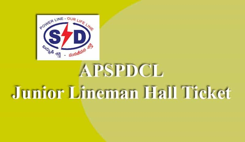 APSPDCL Junior Lineman Hall Ticket
