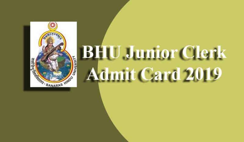 BHU Junior Clerk Admit Card