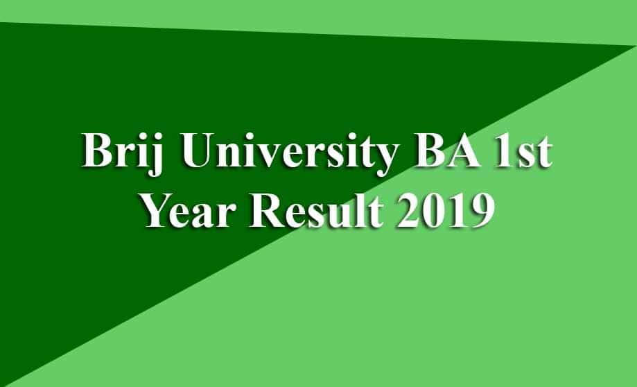 Brij University BA 1st Year Result