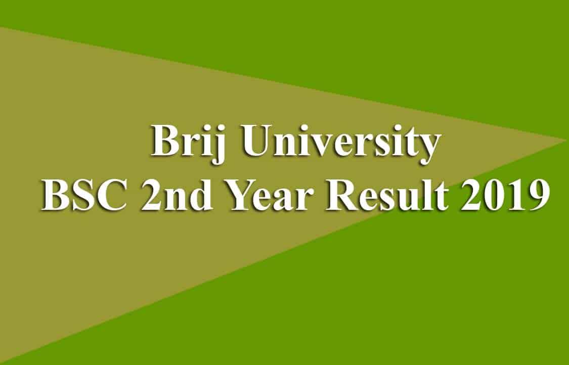 Brij University BSC 2nd Year Result 2019